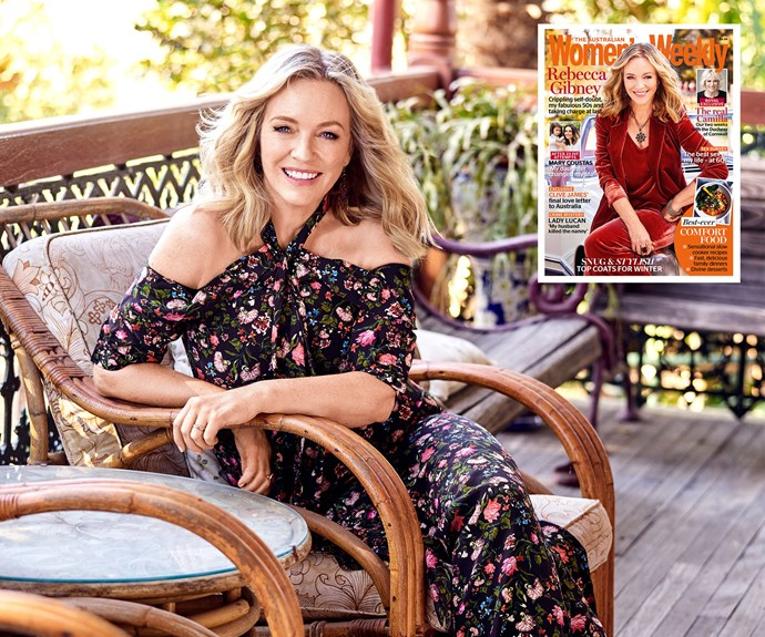 Radiant Rebecca Gibney doesn't give a rats