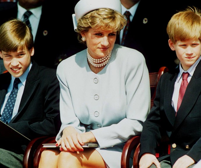 The brothers with their mum, Princess Diana.