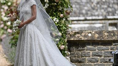 Here's your first look of Pippa Middleton's STUNNING wedding dress