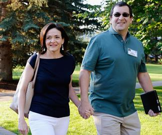 Facebook boss on the guilt of feeling happy a year after her husband's death