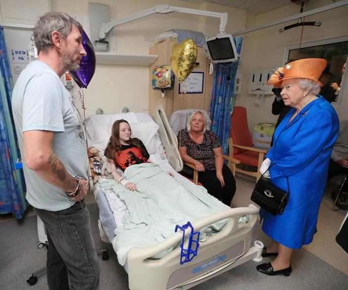Millie, who sustained leg injuries from flying shrapnel, wore an Ariana Grande t-shirt at the time of the royal visit.