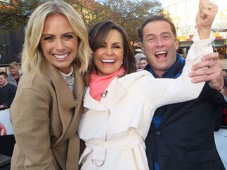 Sylvia Jeffreys, Lisa Wilkinson, Karl Stefanovic
