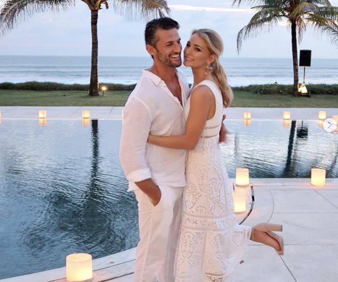 Tim Robards and Anna Heinrich, who recently announced their (highly-anticipated) engagement, have shared a series of loved-up snaps taken at a friends wedding in Bali. And the all-in-white pictures have left us feeling SO excited for their upcoming wedding!