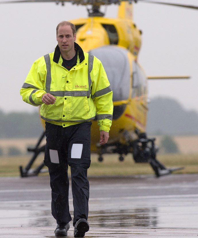 Prince William is hanging up his flight suit to focus solely on his royal duties.