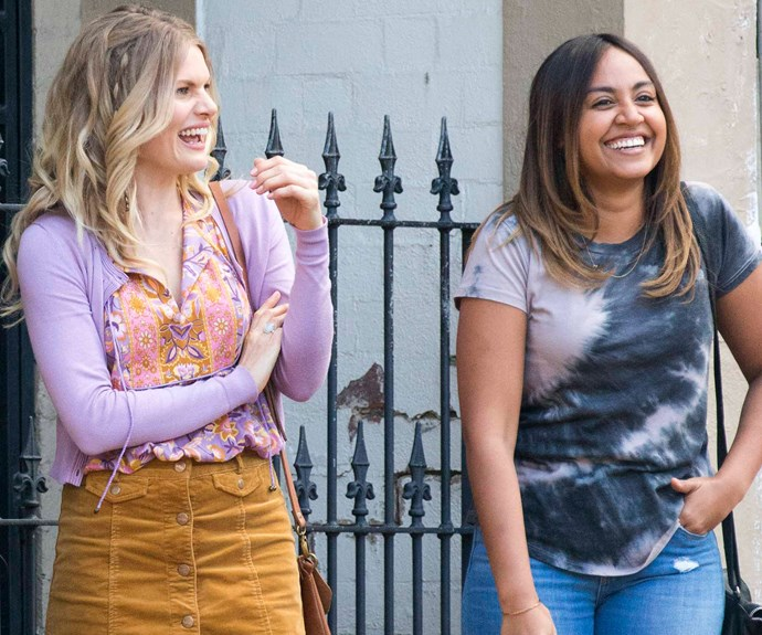 Jessica Mauboy and Bonnie Sveen