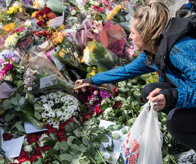 Floral tributes and heartfelt cards have begun to fill the scene of Saturday's terrorist attack, on June 6.