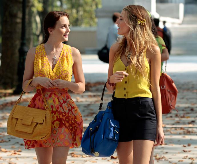 Blair and Serena from Gossip Girl