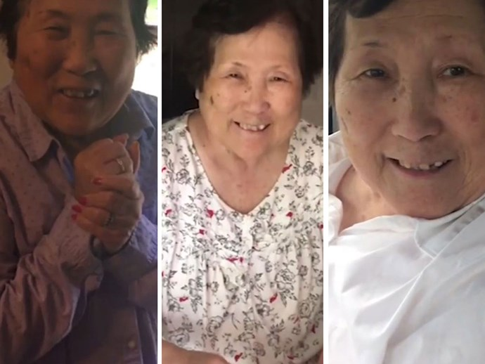 Watch this mum-to-be tell her mum with Alzheimer's the news over and over