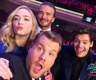 Emily Blunt, Harry Styles, James Corden and David Beckham