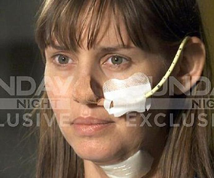 The Australian woman says she made eye contact with her attacker before he slashed her throat. (Image/Sunday Night)