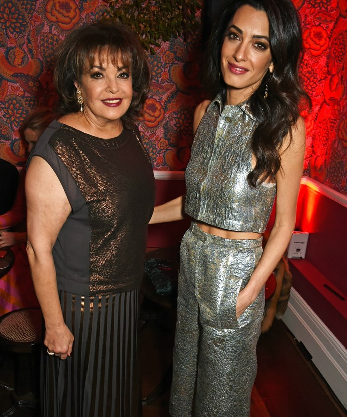 Amal is pictured with her mum, Baria.