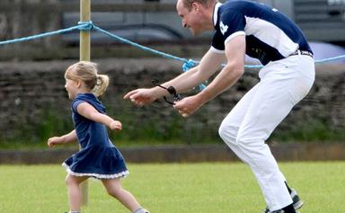 Prince William horses around with Mia Tindall at the polo