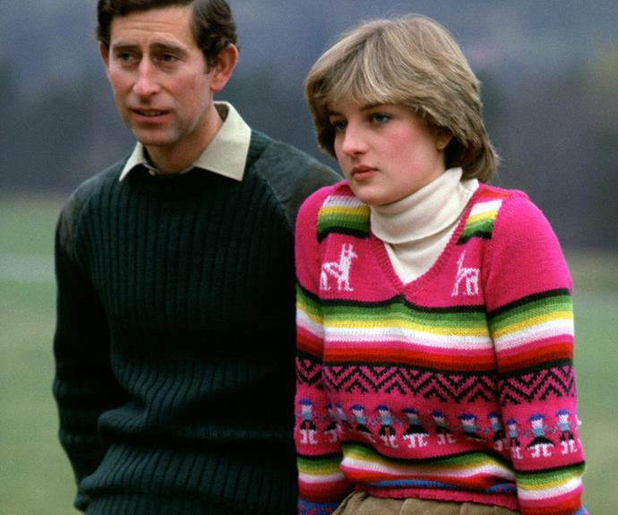 Charles and Diana sit for a set of photographs in the months leading up to their wedding.