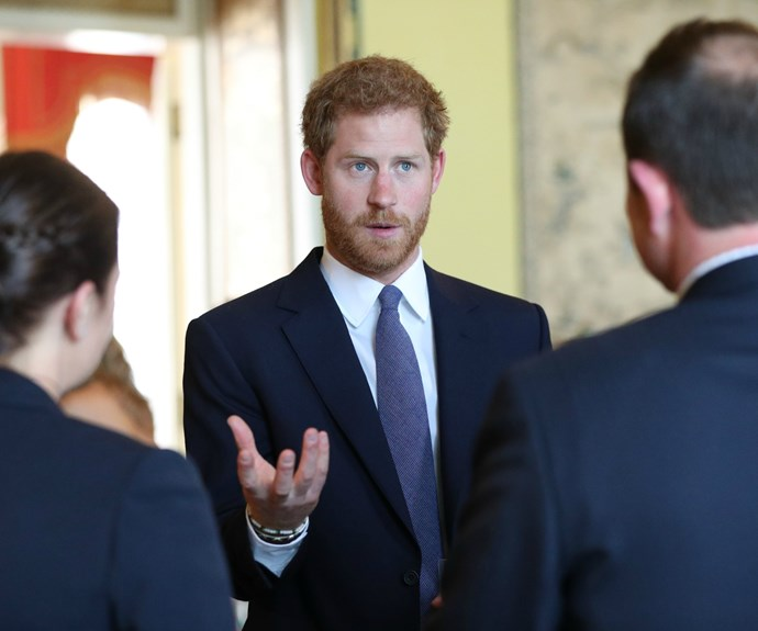 Prince Harry chatted happily with inspirational parents and caregivers at the event.