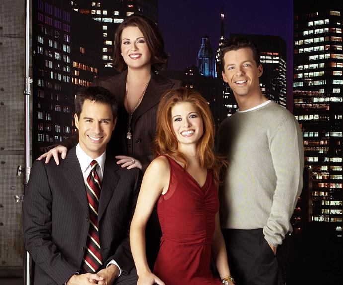 Erik McCormack, Debra Messing, Sean Hayes and Megan Mullally