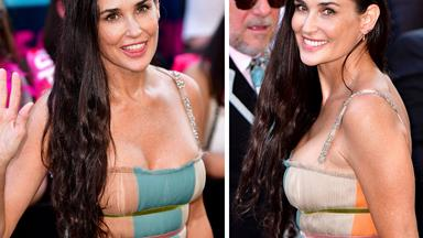 Demi Moore lets her natural silver streaks shine on the red carpet