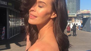 Megan Gale shares an update on her pregnancy (and an incredible underwear selfie)