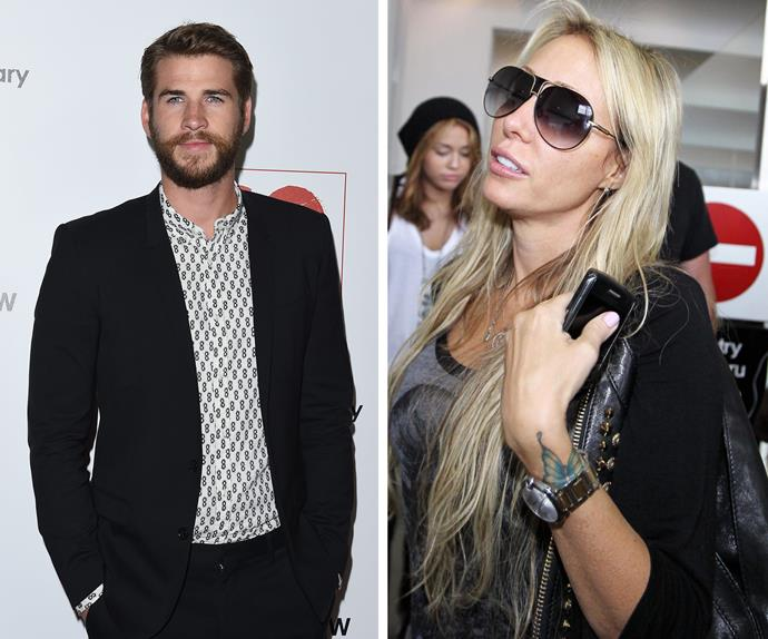 Liam Hemsworth and Tish Cyrus