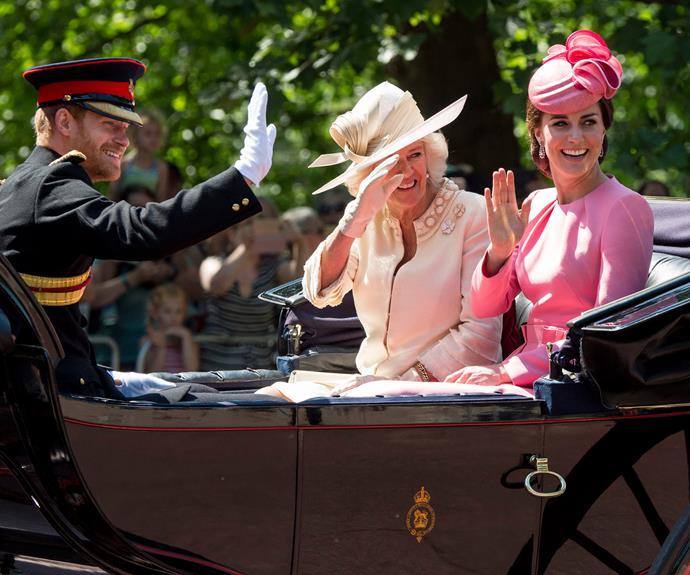 Due to Prince Harry's position in the royal family, he doesn't ride on horseback and instead in a carriage.