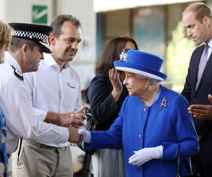 Upon arrival, Her Majesty and Prince William were welcomed warmly.