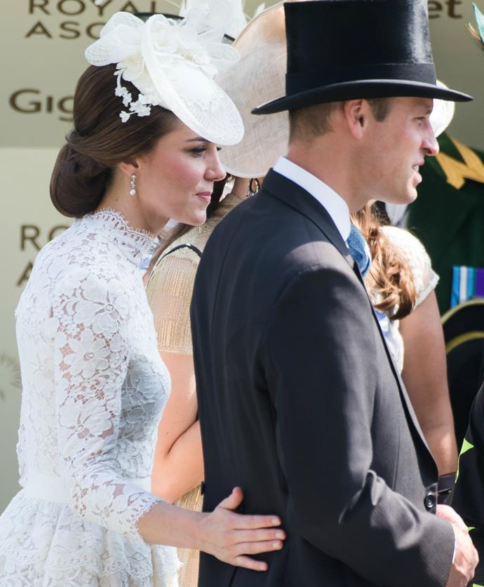 As usual, everybody's favourite royal couple stole the show! And in a rare show of affection, Kate even placed her husband on her husband's lower back.