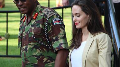 Hollywood's leading humanitarian Angelina Jolie drops by Kenya