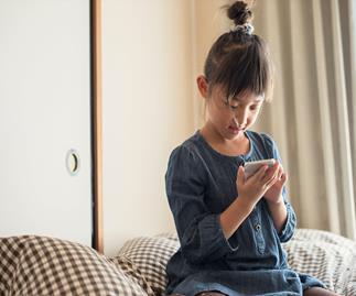 Girl on Smart phone