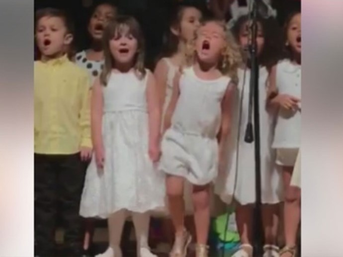 Four-year-old gives an adorably passionate performance of Moana's song