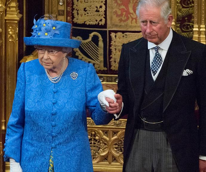 When hats have secret messages: The conspiracy theorists claimed this brightly-hued accessory, which she wore for the opening of parliament in 2017, was a cheeky nod to the EU flag.