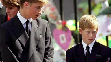 """Prince William recalls his mother's funeral: """"I felt she was walking along beside us"""""""