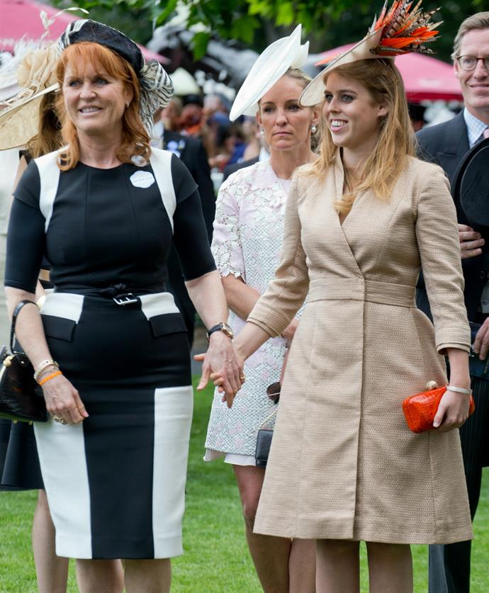 In a touching show of affection, Fergie and daughter Beatrice were even seen to hold hands.