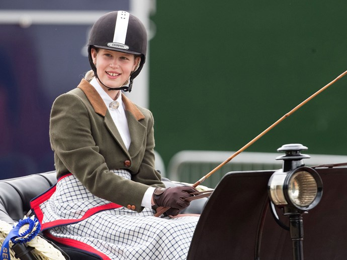Lady Louise Windsor is competing in carriage driving
