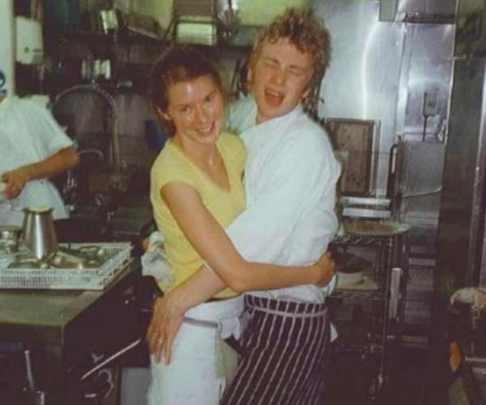 "Jamie Oliver has taken to Instagram to share a throwback photo of himself and his lovely wife Jools in their 20s. He captioned the adorable pic: ""Throw back Me & my wife @joolsoliver 22 years ago at the @therivercafelondon good times there amazing people, great food and wonderful leaders in Rose Grey and Ruthie Rogers big love joxx."" Stop it already, you guys!"
