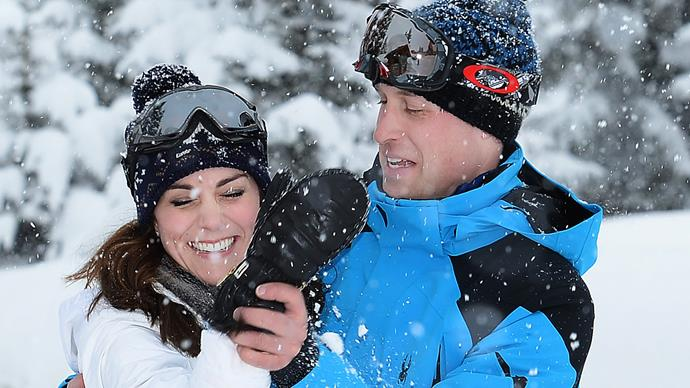 kate middleton prince william snow europe