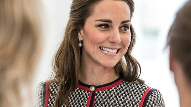 The Duchess of Cambridge looks a work of art as she visits Victoria & Albert Museum