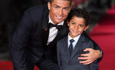 Cristiano Ronaldo introduces the world to his twins