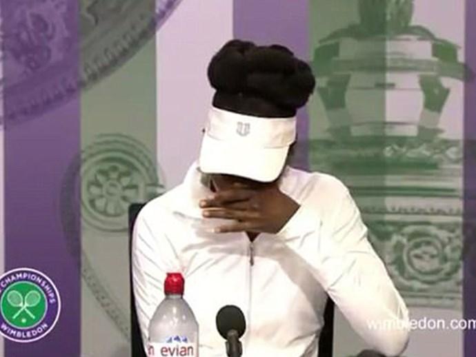 Venus Williams breaks down at Wimbledon press conference after questions about fatal car crash