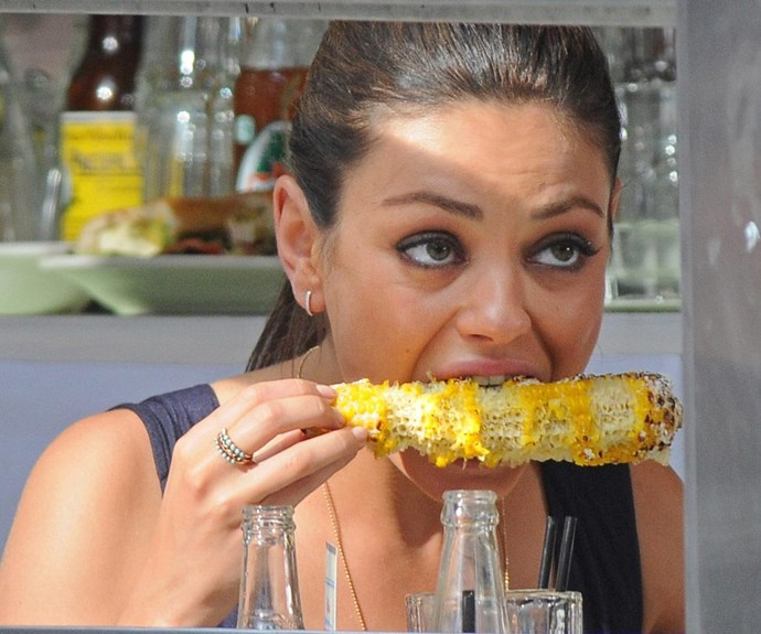 Chow down on some corn like Mila.