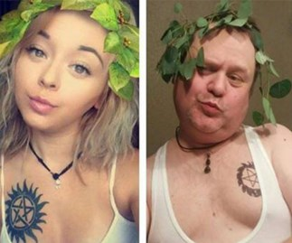 This ultimate cool dad is recreating his daughter's selfies