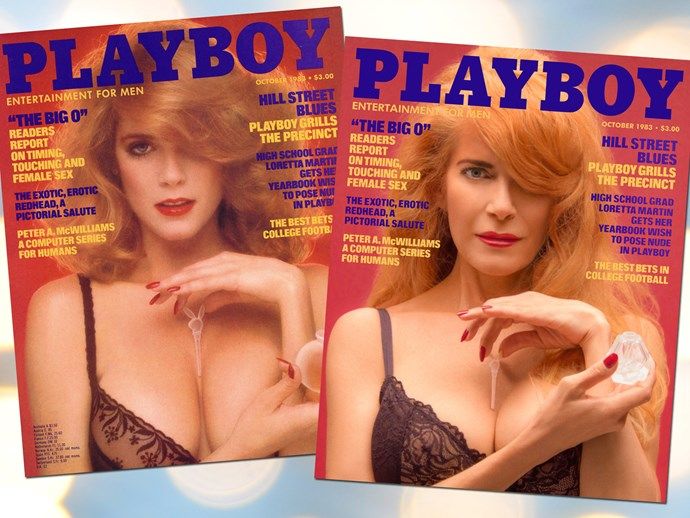 Playboy models re-create iconic covers