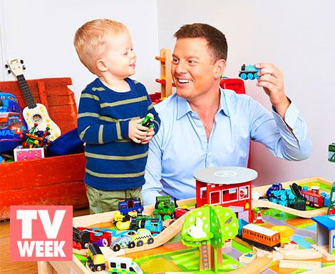 Ben Fordham and son Freddy