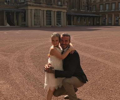 """Our little birthday princess"": Harper Beckham celebrates her sixth birthday at Buckingham Palace"