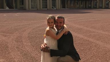 Harper Beckham celebrates sixth birthday at Buckingham Palace