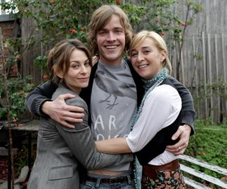 Kat Stewart, Richard Davies and Asher Keddie