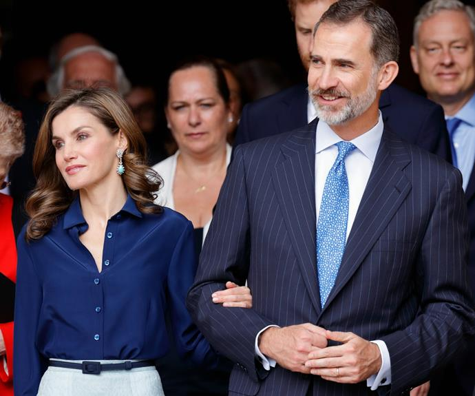 The Spanish royals are currently on a three-day state visit to the UK.