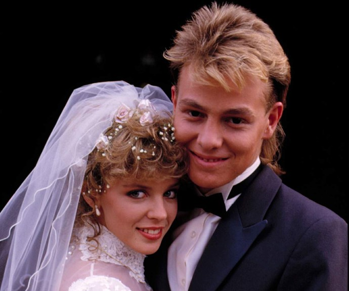 Scott (Jason Donovan) and Charlene (Kylie Minogue)