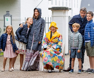 Singing in the rain goes regal thanks to Princess Mary and her Danish Royal Family