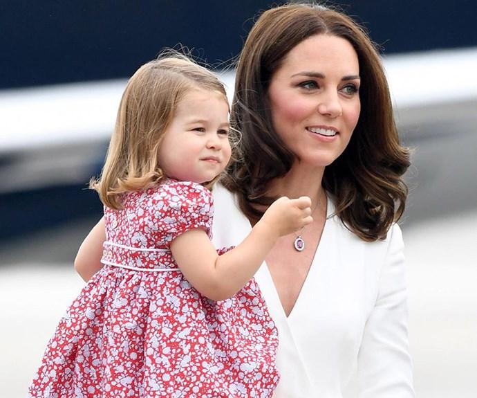 Duchess Catherine and Princess Charlotte
