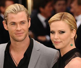 Chris Hemsworth and Charlize Theron