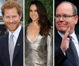 Prince Albert imparts some very British words of wisdom to Prince Harry and Meghan Markle